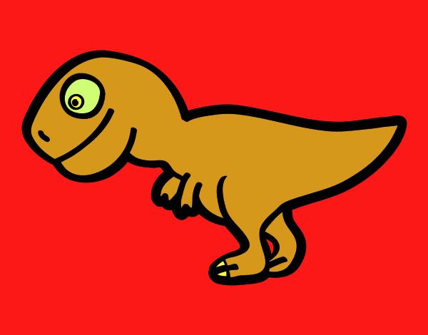 dibujo de tiranosaurio rex joven pintado por en dibujos net el día