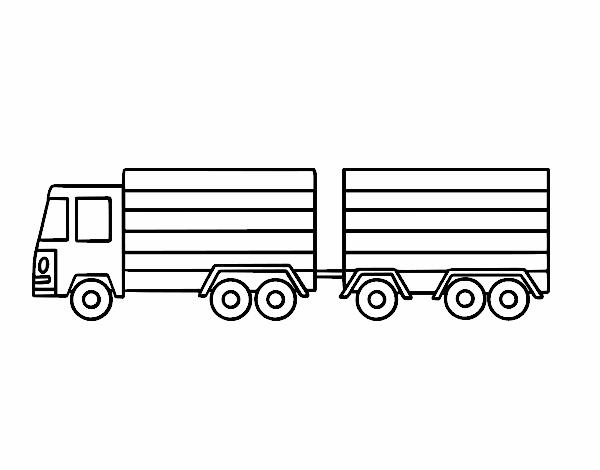Dibujo de Camión con remolque pintado por en Dibujos.net el día 04 ...