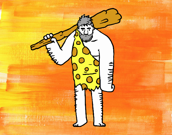 Dibujo De Hombre De Las Cavernas Pintado Por En Dibujosnet