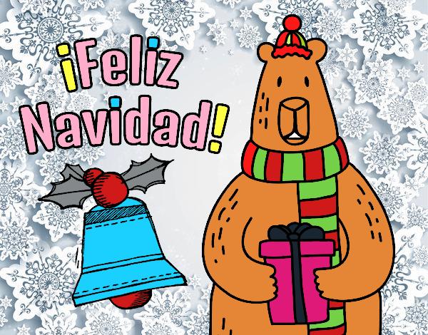 Dibujo De Postal Feliz Navidad Pintado Por En Dibujosnet El Dia 10 - Postales-navidad-dibujos