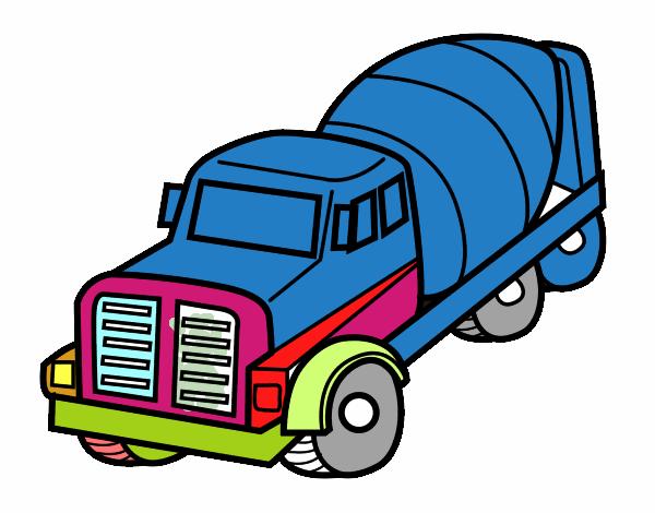 Dibujo De Camión Hormigonera Pintado Por En Dibujosnet El Día 16 12