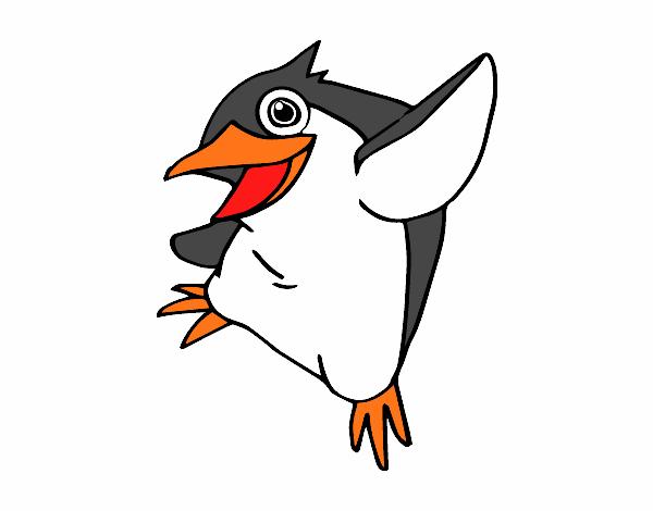 Dibujo de Pequeño pingüino azul pintado por en Dibujos.net el día 13 ...