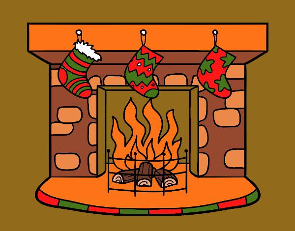 Dibujos Chimeneas De Navidad.Dibujo De Chimenea De Navidad Pintado Por En Dibujos Net El