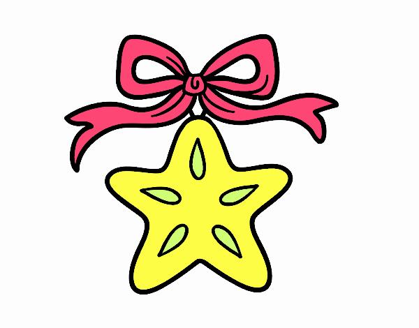 Dibujo De Estrella Navidena