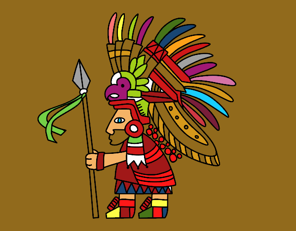 Dibujo De Guerrero Azteca Pintado Por En Dibujosnet El Día 02 01 18