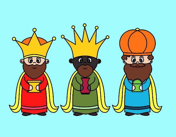 Dibujos De Los 3 Reyes Magos Para Colorear: Dibujo De Los 3 Reyes Magos Pintado Por En Dibujos.net El