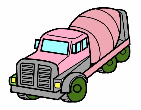 Dibujo De Camión Hormigonera Pintado Por En Dibujosnet El Día 12 01