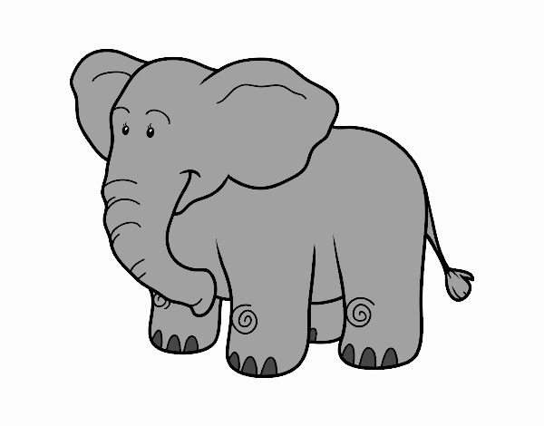 Dibujo de Un elefante africano pintado por en Dibujos.net ...