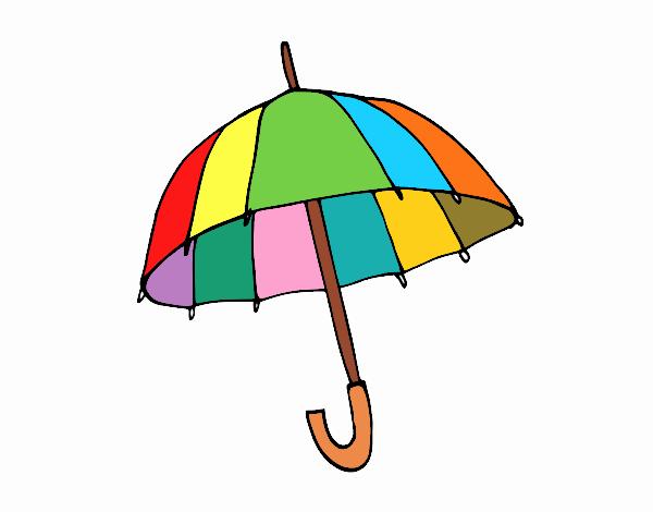 Dibujos De Paraguas Para Colorear E Imprimir: Dibujo De Un Paraguas Pintado Por En Dibujos.net El Día 28