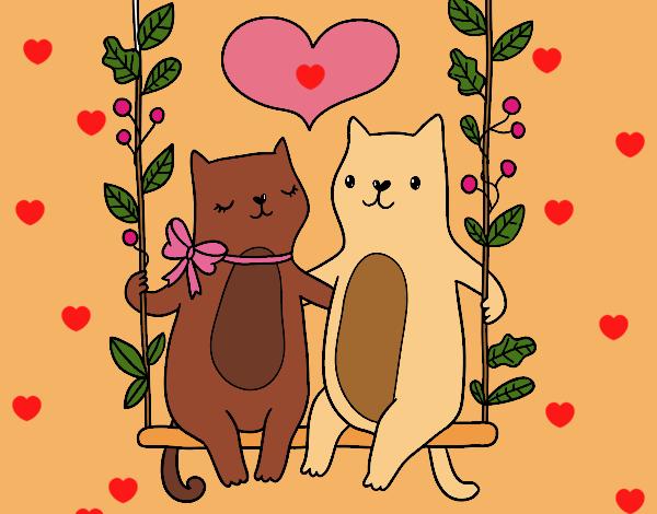 Dibujo De Gatitos Enamorados Pintado Por En Dibujosnet El Día 31 01