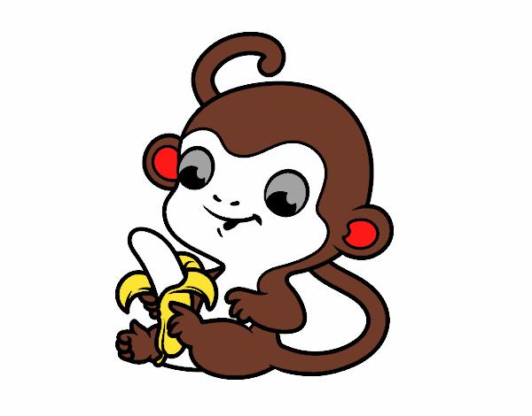 Dibujo de mono pintado por en Dibujos.net el día 31-01-18 a las 05 ...