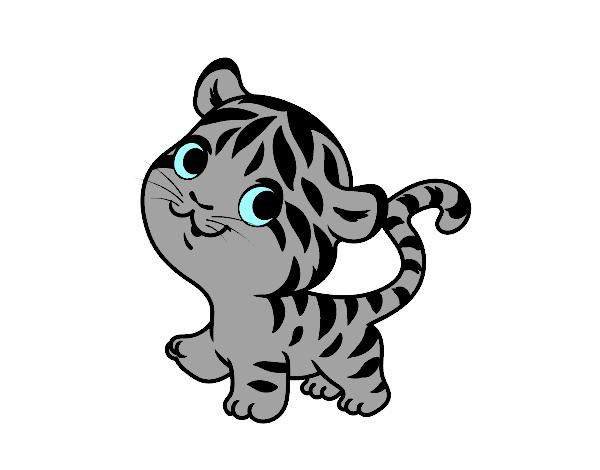 Dibujo de Tigre bebé pintado por en Dibujos.net el día 31-01-18 a ...