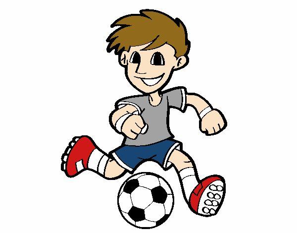 Dibujo de Jugador de fútbol con balón pintado por en Dibujos.net el ... 5ef8926b7a5ca