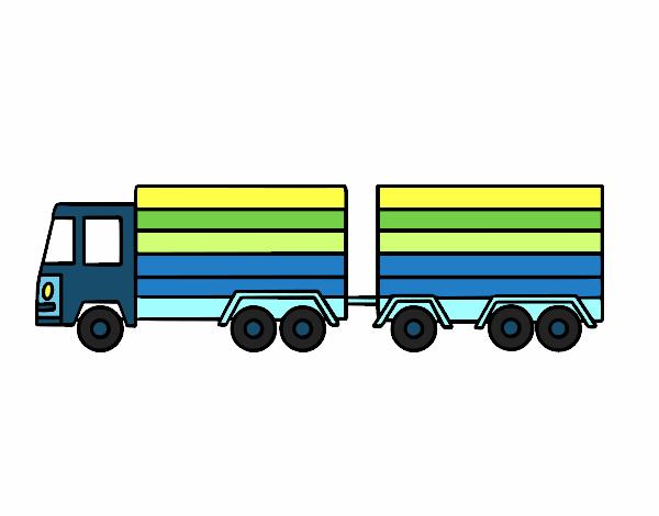 Dibujo de Camión con remolque pintado por en Dibujos.net el día 14 ...