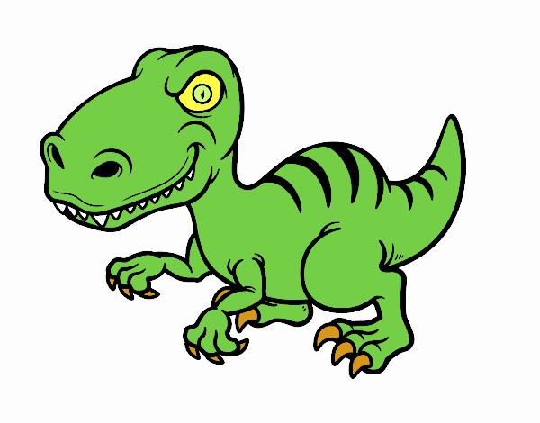 Dibujos De Dinosaurios: Dibujo De Dinosaurio Velociraptor Pintado Por En Dibujos