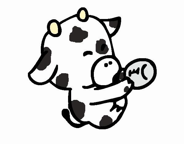Dibujo de bebe vaca pintado por en Dibujos.net el día 11-03-18 a las ...