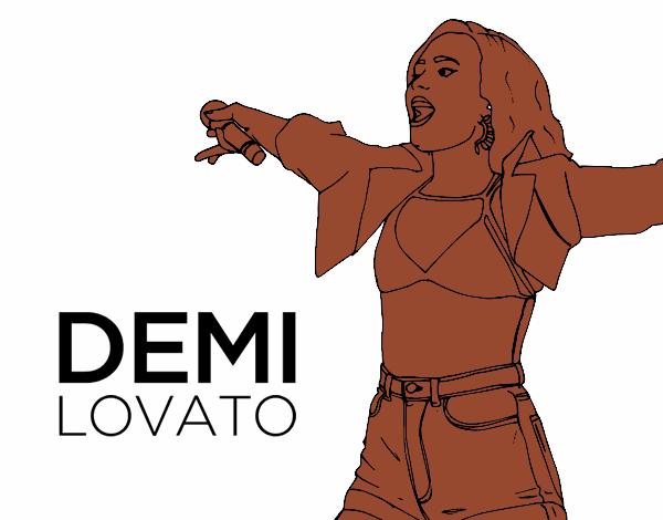 Dibujo de Demi Lovato en concierto pintado por en Dibujos.net el día ...