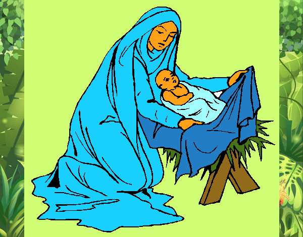 Dibujo De Nacimiento Del Niño Jesús Pintado Por En Dibujos