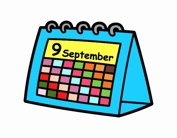 Calendario Dibujo Png.Dibujo De Calendario De Mesa Pintado Por En Dibujos Net El
