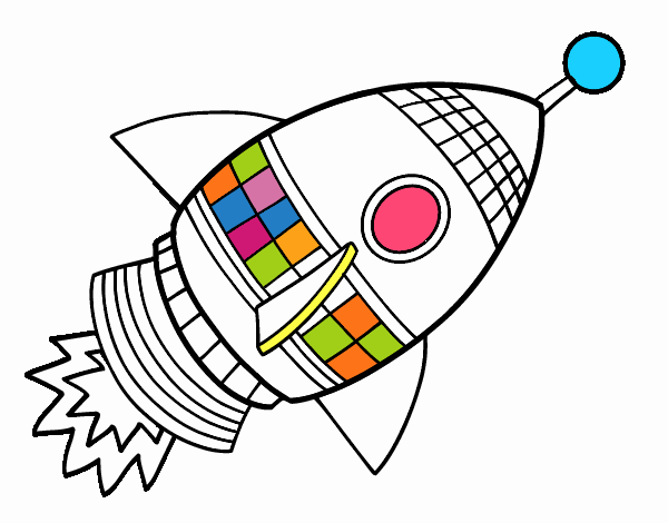 Dibujo de Cohete espacial pintado por en Dibujos.net el día 16-03-18 ...