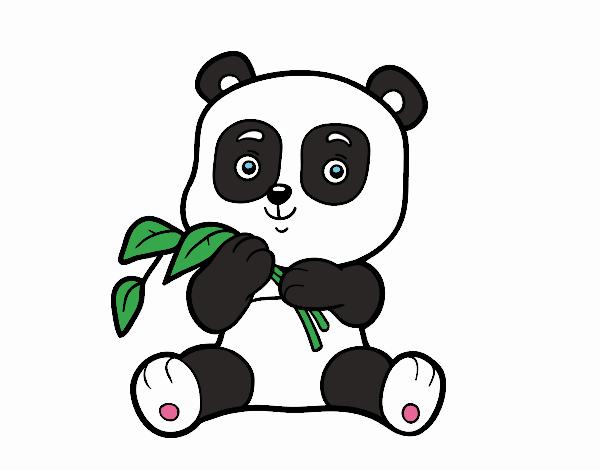 Dibujo de Un oso panda pintado por en Dibujos.net el día 30-03-18 a ...