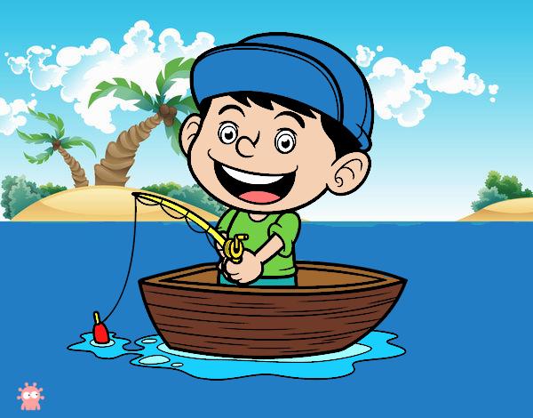 Dibujos Para Colorear Un Pescador: Dibujo De Niño Pescando Pintado Por Epv4 En Dibujos.net El