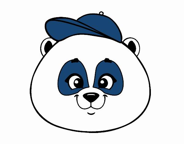 Dibujo de Cara de oso panda con gorro pintado por en Dibujos.net el ...