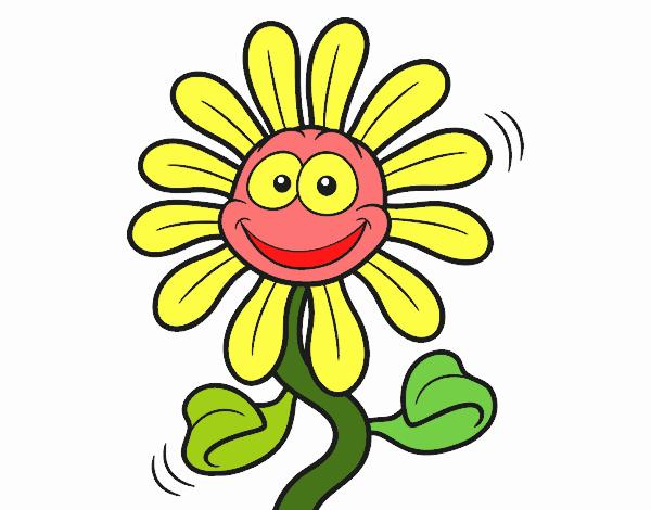 Flores Horizontales Dibujos Animados Patrón De Fondo: Imagenes Animadas De Flores