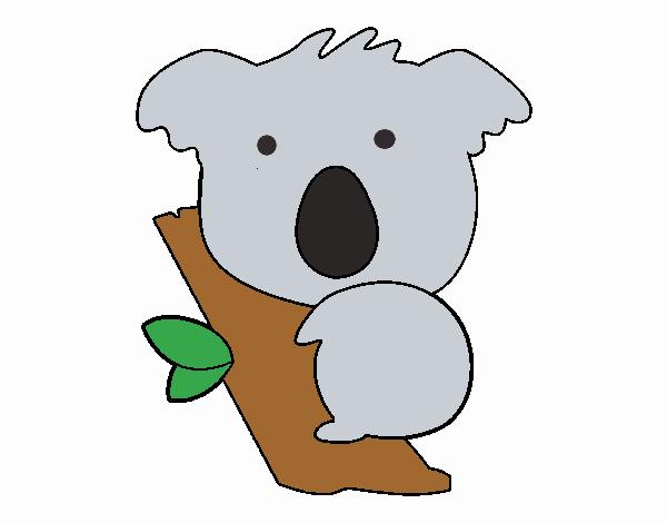 Dibujo de Koala bebé pintado por en Dibujos.net el día 13-04-18 a ...