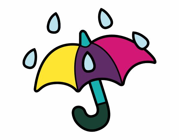 Dibujos De Paraguas Para Colorear E Imprimir: Dibujo De Paraguas Abierto Pintado Por Albabm24 En Dibujos
