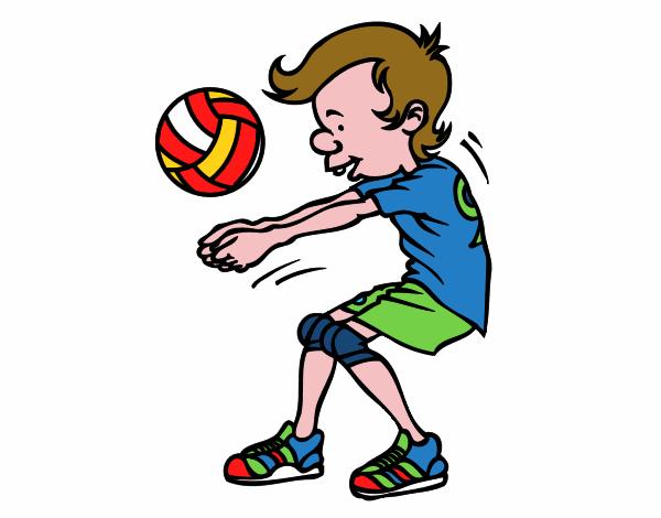 Dibujo De Saque De Voleibol Pintado Por En Dibujos.net El
