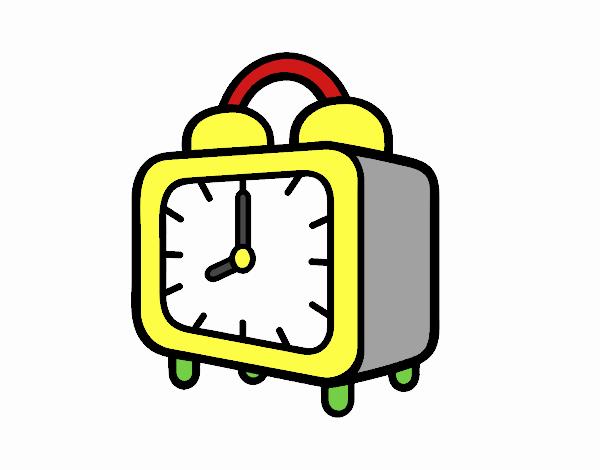 Dibujo de Un reloj despertador pintado por en Dibujos.net el día 09 ...