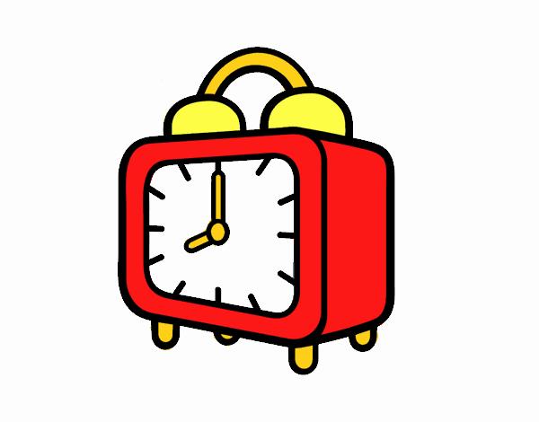 Dibujo de Un reloj despertador pintado por en Dibujos.net el día 11 ...