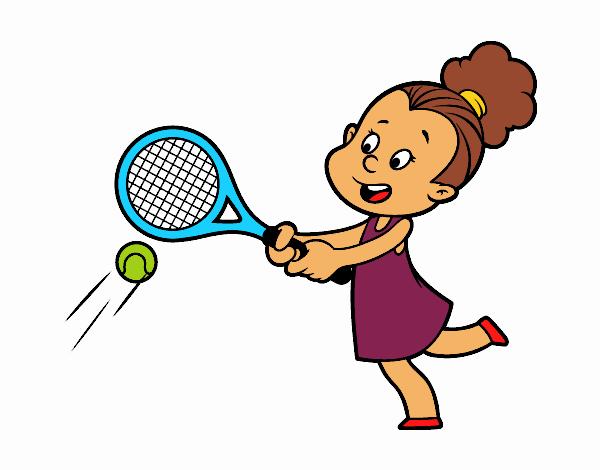 Dibujo de Niña jugando a tenis pintado por en Dibujos.net ...