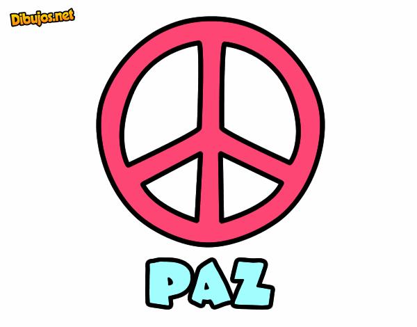 Dibujo De En Paz Para El Mundo Pintado Por En Dibujosnet El