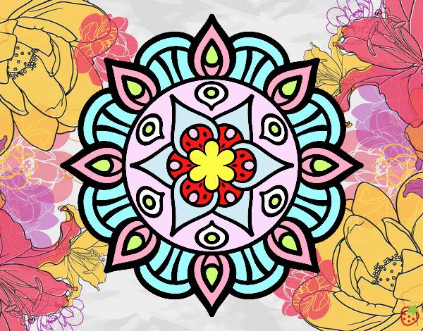 Dibujo De Mandalas Con Colores Vivos Pintado Por En Dibujosnet El