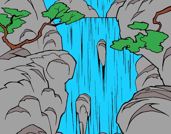 Dibujo De Cascada Pintado Por En Dibujosnet El Día 09 05 18