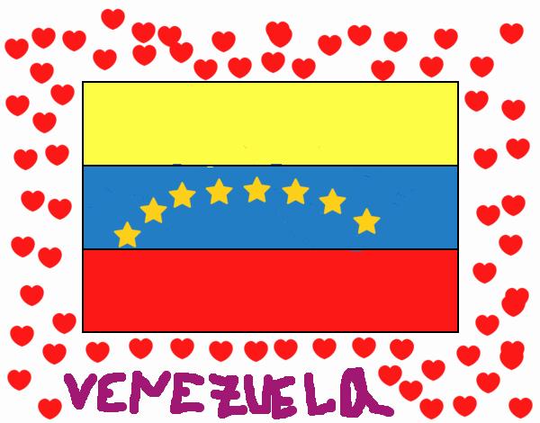 Dibujo De La Bandera De Venezuela Pintado Por En Dibujosnet