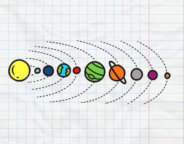 Dibujos Para Colorear Del Sistema Solar Para Ninos: Dibujo De Sistema Solar Pintado Por En Dibujos.net El Día