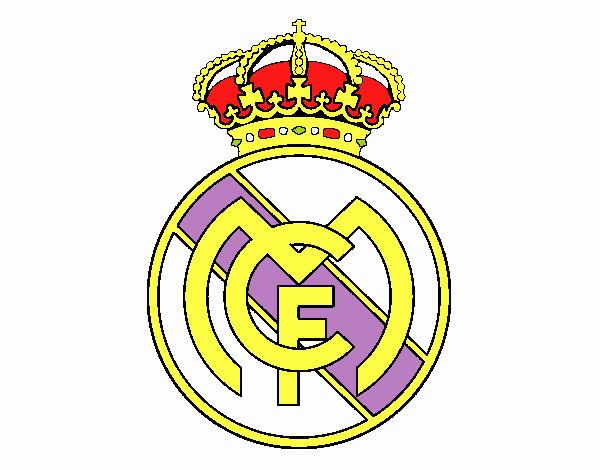 Dibujo de Escudo del Real Madrid C.F. pintado por en Dibujos.