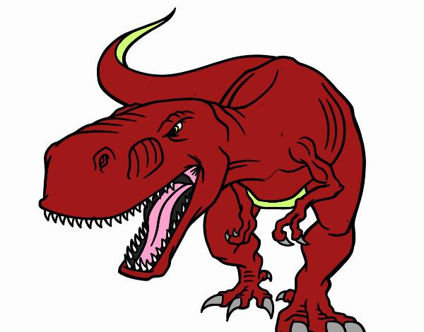 Dibujo De Tiranosaurio Rex Enfadado Pintado Por En Dibujos