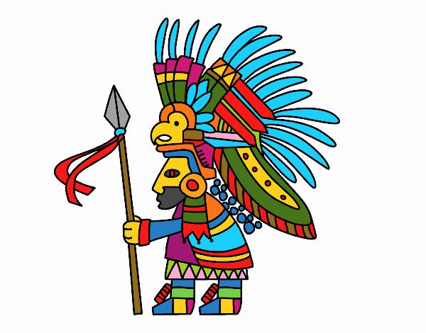 Dibujo De Guerrero Azteca Pintado Por En Dibujosnet El Día 28 05 18