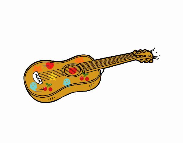 Dibujo de Una guitarra acústica pintado por en Dibujos.net el día 28 ...