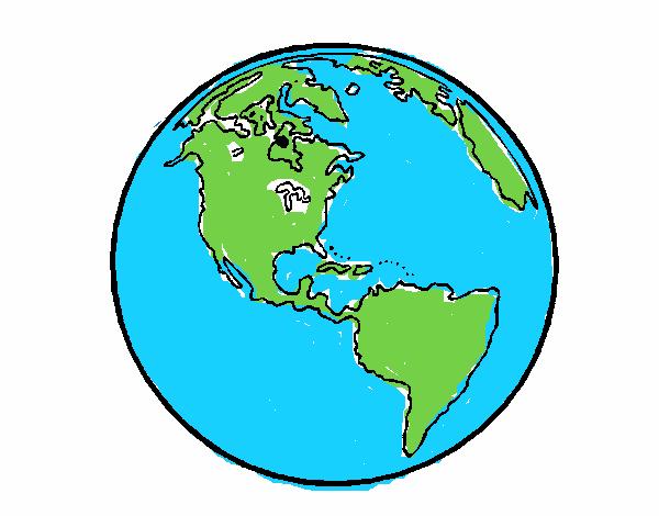 Dibujo De Planeta Tierra 1 Pintado Por En Dibujosnet El Día 06 06