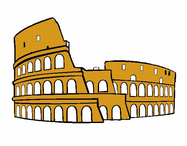 Dibujo De Coliseo Romano Pintado Por En Dibujosnet El Día 14 06 18