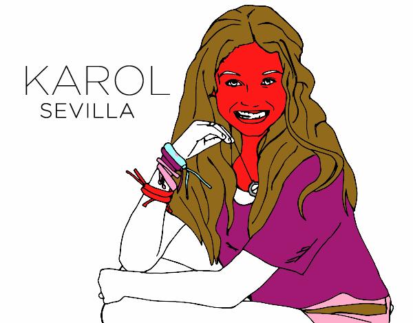 Dibujo De Karol Sevilla De Soy Luna Pintado Por En Dibujos