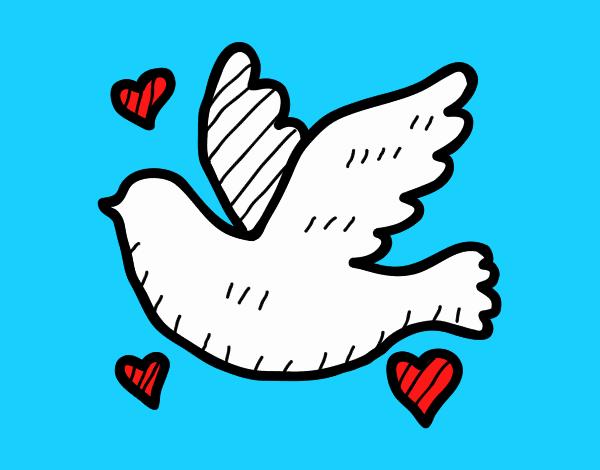 Dibujo De Paloma Del Amor Pintado Por En Dibujosnet El Día 14 06 18