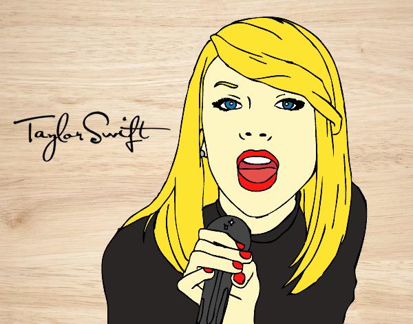 Dibujo De Taylor Swift Cantando Pintado Por En Dibujosnet El Día 13