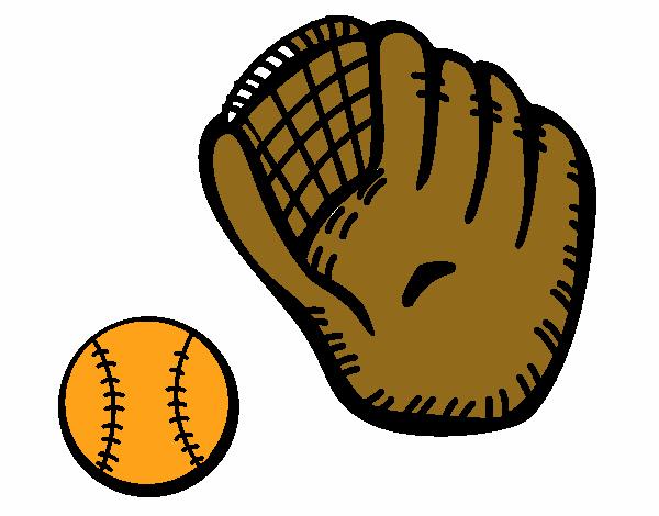 Dibujo De Guante Y Bola De Béisbol Pintado Por En Dibujos