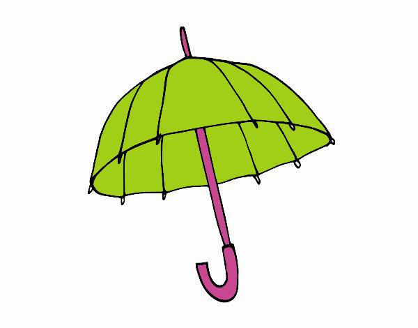 Dibujos De Paraguas Para Colorear E Imprimir: Dibujo De Un Paraguas Pintado Por En Dibujos.net El Día 22